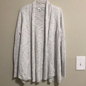 Sonoma Open Cardigan Sweater Long Sleeve Cream M